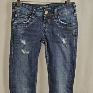 Silver Jeans Women's Manchester Distressed Size 26